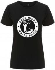"""Zum/zur  tailliertes Fairtrade T-Shirt """"Good Night White Pride - Fahrrad"""" für 18,00 € gehen."""