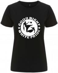 """Zum/zur  tailliertes Fairtrade T-Shirt """"Good Night White Pride - Oma"""" für 17,55 € gehen."""