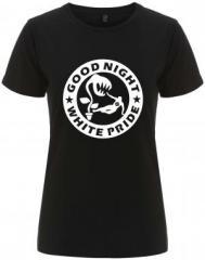 """Zum/zur  tailliertes Fairtrade T-Shirt """"Good night white pride - Pflanze"""" für 18,00 € gehen."""
