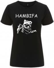 """Zum/zur  tailliertes Fairtrade T-Shirt """"Hambifa"""" für 18,00 € gehen."""