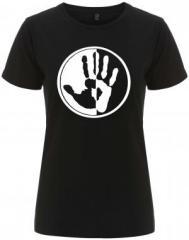 """Zum/zur  tailliertes Fairtrade T-Shirt """"Hand"""" für 18,00 € gehen."""