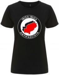 """Zum/zur  tailliertes Fairtrade T-Shirt """"Ibiza Ibiza Antifascista"""" für 18,00 € gehen."""