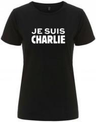 """Zum/zur  tailliertes Fairtrade T-Shirt """"Je suis Charlie"""" für 18,00 € gehen."""