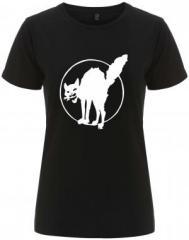 """Zum/zur  tailliertes Fairtrade T-Shirt """"Katze"""" für 18,00 € gehen."""