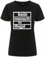 """Zum/zur  tailliertes Fairtrade T-Shirt """"kein mensch ist illegal"""" für 18,00 € gehen."""