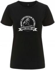 """Zum/zur  tailliertes Fairtrade T-Shirt """"Make Capitalism History"""" für 18,00 € gehen."""