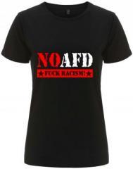 """Zum/zur  tailliertes Fairtrade T-Shirt """"No AFD"""" für 17,55 € gehen."""