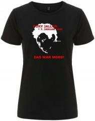 """Zum/zur  tailliertes Fairtrade T-Shirt """"Oury Jalloh - 7. Januar 2005"""" für 18,00 € gehen."""