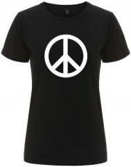 """Zum/zur  tailliertes Fairtrade T-Shirt """"Peacezeichen"""" für 18,00 € gehen."""