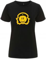"""Zum/zur  tailliertes Fairtrade T-Shirt """"Revolusmile"""" für 18,00 € gehen."""