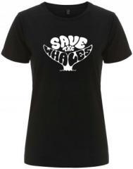 """Zum/zur  tailliertes Fairtrade T-Shirt """"Save the Whales"""" für 17,55 € gehen."""