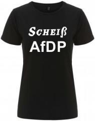"""Zum/zur  tailliertes Fairtrade T-Shirt """"Scheiß AfDP"""" für 18,00 € gehen."""