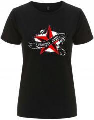 """Zum/zur  tailliertes Fairtrade T-Shirt """"Siempre Antifascista"""" für 18,00 € gehen."""