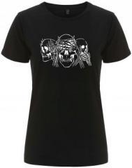 """Zum/zur  tailliertes Fairtrade T-Shirt """"Skulls"""" für 17,55 € gehen."""