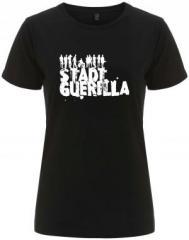 """Zum/zur  tailliertes Fairtrade T-Shirt """"Stadtguerilla"""" für 17,55 € gehen."""
