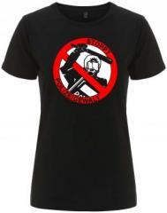 """Zum/zur  tailliertes Fairtrade T-Shirt """"Stoppt Polizeigewalt"""" für 18,00 € gehen."""