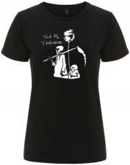 """Zum/zur  tailliertes Fairtrade T-Shirt """"Tod und Tötchen"""" für 18,00 € gehen."""