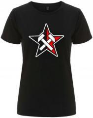"""Zum/zur  tailliertes Fairtrade T-Shirt """"Working Class Stern"""" für 18,00 € gehen."""