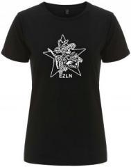 """Zum/zur  tailliertes Fairtrade T-Shirt """"Zapatistas Stern EZLN"""" für 17,55 € gehen."""