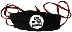 """Zur Mundmaske """"... still loving antifa!"""" für 6,50 € gehen."""
