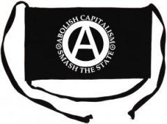 """Zur Mundmaske """"Abolish Capitalism - Smash The State"""" für 6,50 € gehen."""