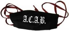 """Zur Mundmaske """"A.C.A.B. Fraktur"""" für 6,34 € gehen."""