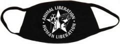 """Zur Mundmaske """"Animal Liberation - Human Liberation (mit Stern)"""" für 6,50 € gehen."""
