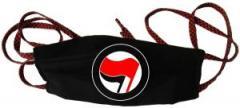 """Zur Mundmaske """"Antifa Logo (rot/schwarz, ohne Schrift)"""" für 6,50 € gehen."""