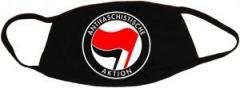 """Zur Mundmaske """"Antifaschistische Aktion (rot/schwarz)"""" für 6,50 € gehen."""
