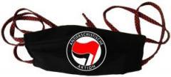 """Zum/zur  Mundbedeckung """"Antifaschistische Aktion (rot/schwarz)"""" für 6,50 € gehen."""