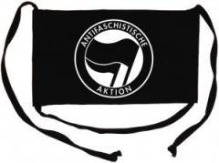 """Zur Mundmaske """"Antifaschistische Aktion (schwarz/schwarz)"""" für 6,34 € gehen."""