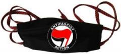 """Zur Mundmaske """"Antifascist Action (rot/schwarz)"""" für 6,34 € gehen."""