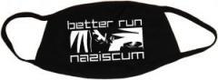 """Zur Mundmaske """"better run naziscum"""" für 6,34 € gehen."""