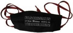 """Zur Mundmaske """"Faschismus ist keine Meinung, sondern ein Verbrechen!"""" für 6,34 € gehen."""