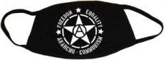 """Zur Mundmaske """"Freedom - Equality - Anarcho - Communism"""" für 6,50 € gehen."""
