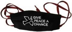 """Zur Mundmaske """"Give Peace A Chance"""" für 6,34 € gehen."""
