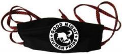 """Zur Mundmaske """"Good night human pride"""" für 6,50 € gehen."""