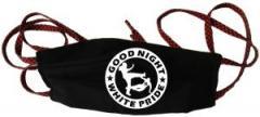 """Zur Mundmaske """"Good Night White Pride (dicker Rand)"""" für 6,50 € gehen."""