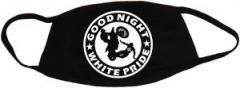 """Zur Mundmaske """"Good night white pride - Motorrad"""" für 6,50 € gehen."""