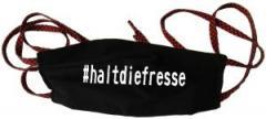 """Zur Mundmaske """"#haltdiefresse"""" für 6,50 € gehen."""