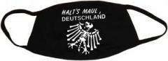 """Zur Mundmaske """"Halt's Maul Deutschland (weiß)"""" für 6,50 € gehen."""