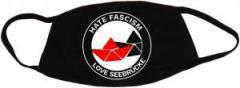 """Zur Mundmaske """"Hate Fascism - Love Seebrücke"""" für 6,50 € gehen."""