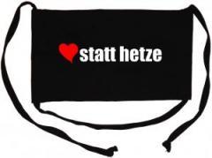 """Zur Mundmaske """"herz statt hetze"""" für 6,34 € gehen."""