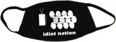 """Zur Mundmaske """"Idiot Nation"""" für 6,50 € gehen."""