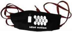 """Zur Mundmaske """"Idiot Nation"""" für 6,34 € gehen."""