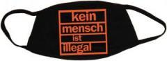 """Zur Mundmaske """"Kein Mensch ist illegal (orange)"""" für 6,34 € gehen."""
