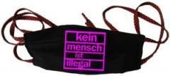 """Zur Mundmaske """"Kein Mensch ist illegal (pink)"""" für 6,34 € gehen."""