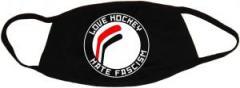 """Zur Mundmaske """"Love Hockey Hate Fascism"""" für 6,34 € gehen."""