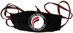 """Zur Mundmaske """"Love Hockey Hate Fascism"""" für 6,50 € gehen."""