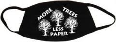 """Zur Mundmaske """"More Trees - Less Paper"""" für 6,34 € gehen."""